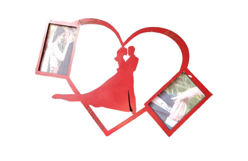 Fotolijst bruidspaar