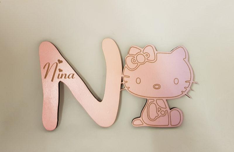 Naam letter voor baby/kinder kamerkamer